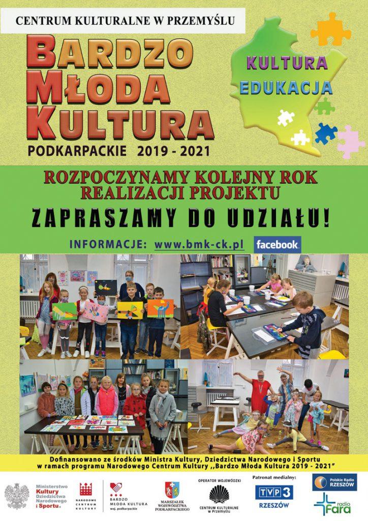 Plakat zapraszający do udziału w programie Bardzo Młoda Kultura